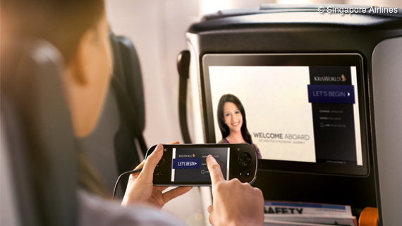 Singapore Airlines bietet Internet an Bord